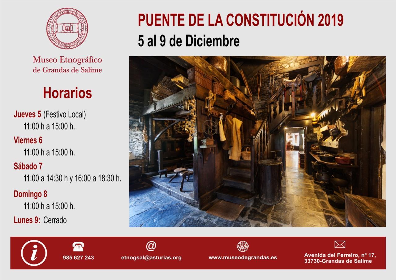 Horarios Puente de la Constitución 2019